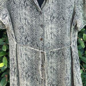 Leopard Buttoned Maxi Dress